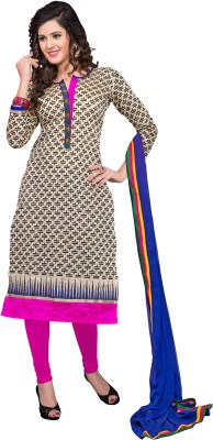 Melluha Fashion Chanderi Printed Salwar Suit Dupatta Material