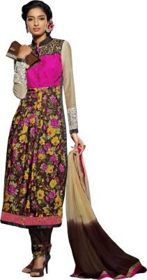 Dlines Georgette Self Design Semi-stitched Salwar Suit Dupatta Material