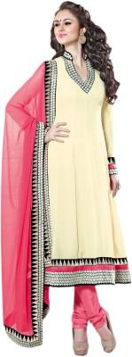 Vishal Georgette Solid Semi-stitched Salwar Suit Dupatta Material
