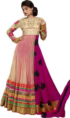 Sai fashion Chiffon, Net Embroidered Semi-stitched Salwar Suit Dupatta Material
