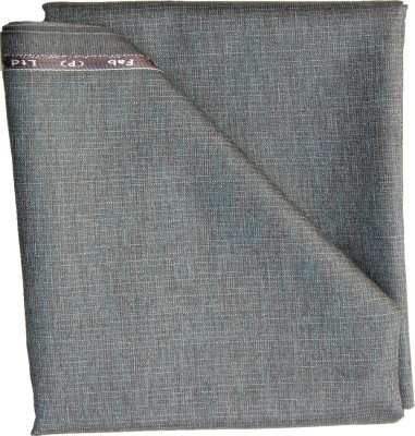Grey Cotton Polyester Blend Striped Trouser Fabric
