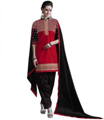 Inaaya Collections Cotton Embroidered Salwar Suit Dupatta Material