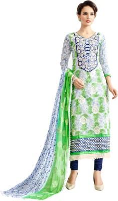 Rjshop Cotton Embroidered Salwar Suit Dupatta Material