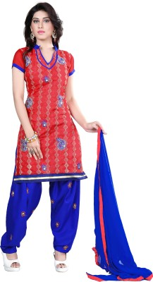 Vardhman Synthetics Chanderi Embroidered Dress/Top Material