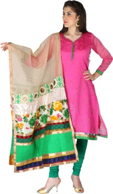 Aanchal Chanderi Embroidered Salwar Suit Dupatta Material