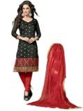 Vimush Fashion Chanderi Embroidered Semi...