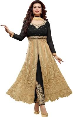 Fashionsurat Net, Georgette Self Design Semi-stitched Salwar Suit Dupatta Material