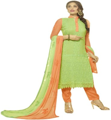 Shreeji Fashion Chiffon Embroidered Salwar Suit Dupatta Material