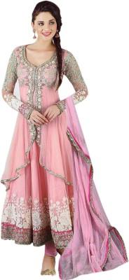 crfatliva Georgette Embroidered Semi-stitched Salwar Suit Dupatta Material