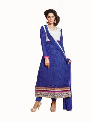 Vaani Brasso, Net Self Design Semi-stitched Salwar Suit Dupatta Material