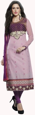 Shree Sai Exports Georgette Self Design Kurti Fabric