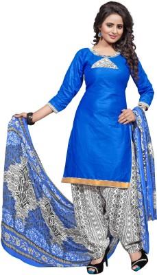 HSFS Cotton Self Design Salwar Suit Dupatta Material