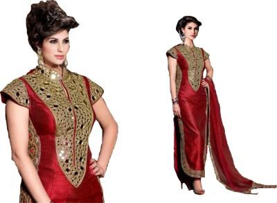 JS Pavitra Fabrics Silk Embroidered Salwar Suit Dupatta Material