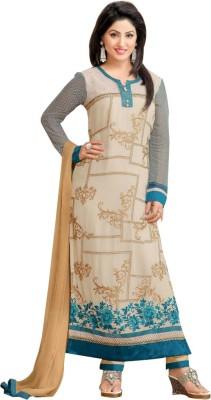 Merisaheli Georgette Embroidered Salwar Suit Dupatta Material