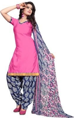 siya designer Cotton Printed Semi-stitched Salwar Suit Dupatta Material