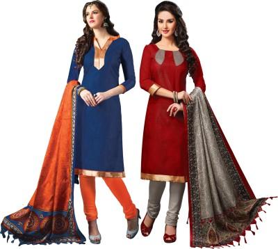 Fabgruh Jute, Cotton Self Design Salwar Suit Dupatta Material