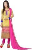Lookslady Chanderi Self Design Salwar Su...