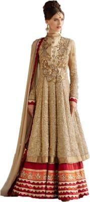Krishna Fashion Georgette Self Design Semi-stitched Salwar Suit Dupatta Material