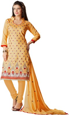 Value Added Fashion Cotton Polyester Blend Self Design Salwar Suit Dupatta Material