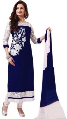 VM Georgette Embroidered Salwar Suit Dupatta Material
