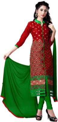 Vimush Fashion Brasso Embroidered Semi-stitched Salwar Suit Dupatta Material