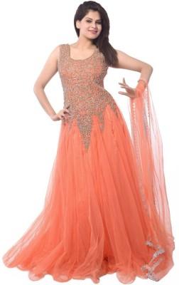 Vinayak Creation Net, Georgette Self Design, Embroidered Salwar Suit Material