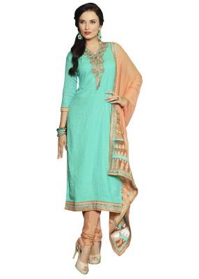 Patiala House Cotton Embroidered Salwar Suit Dupatta Material(Un-stitched) at flipkart