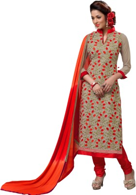 Frenzy Fashion Georgette Embroidered Salwar Suit Dupatta Material