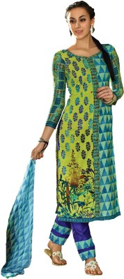 Inddus Cotton Embroidered Salwar Suit Dupatta Material(Un-stitched) at flipkart