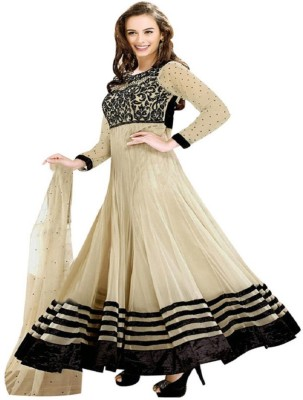 Krishna Georgette Embroidered Semi-stitched Salwar Suit Dupatta Material