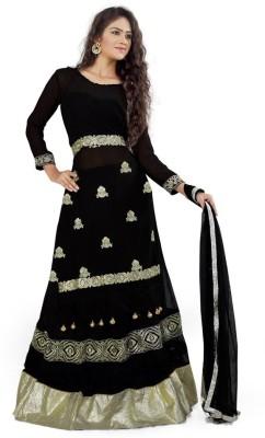 Priyanka Creation Net Embroidered Semi-stitched Lehenga Choli Material