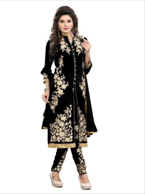 Royal womens clothing Cotton Embroidered Salwar Suit Dupatta Material