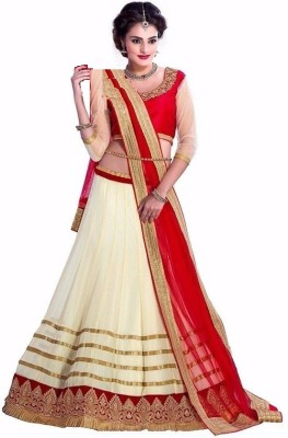 Accurate Collection Net Embroidered Lehenga Choli Material