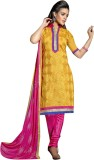 Viva N Diva Cotton Embroidered Semi-stit...