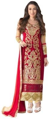 Jashvishenterprise Georgette Embroidered Semi-stitched Salwar Suit Dupatta Material