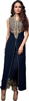 sitaram Georgette Embroidered Semi-stitched Salwar Suit Dupatta Material