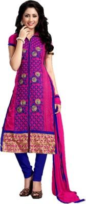 Vimush Fashion Georgette Embroidered Semi-stitched Salwar Suit Dupatta Material