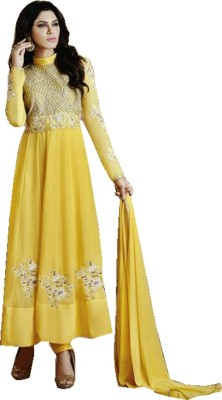 Samah-Fashion Georgette Self Design Salwar Suit Dupatta Material
