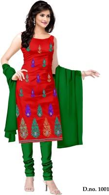 Shree Vardhman Crepe Embroidered Dress/Top Material