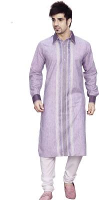 Ethnysis Cotton Polyester Blend Embroidered Kurti Fabric