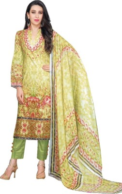 Heena's collection Cotton Self Design Salwar Suit Dupatta Material