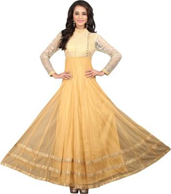 BanoRani Net Floral Print Semi-stitched Salwar Suit Dupatta Material