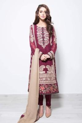 baroque Chiffon Embroidered Salwar Suit Dupatta Material
