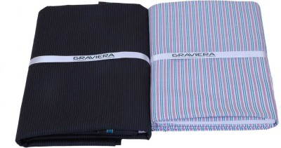Graviera Cotton Linen Blend Striped Shirt & Trouser Fabric