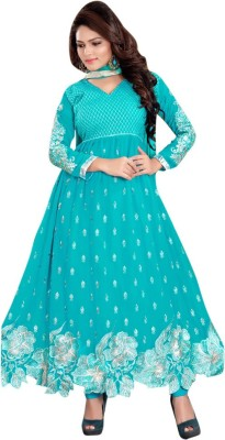Trendz Apparels Georgette Embroidered Salwar Suit Dupatta Material