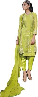 Amelliaz Georgette Embroidered Salwar Suit Dupatta Material