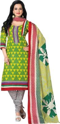 Parchayee Cotton Geometric Print Salwar Suit Dupatta Material