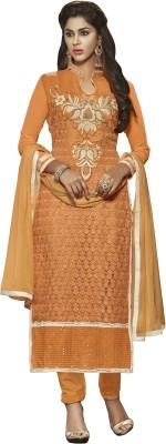 Jiya Net, Georgette Self Design, Embroidered Salwar Suit Dupatta Material