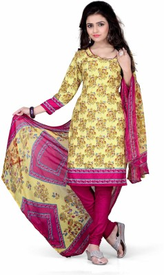 Kajal Sarees Cotton Floral Print Salwar Suit Dupatta Material
