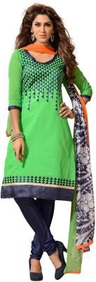 Fabdeal Cotton Graphic Print Salwar Suit Dupatta Material